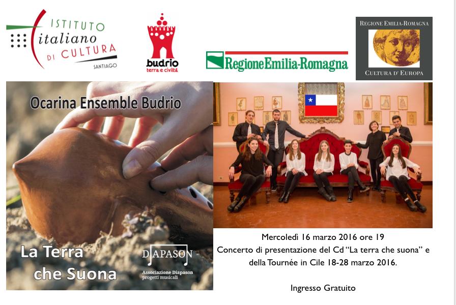 """Il Nuovo CD """"LA TERRA CHE SUONA"""" e la presentazione della Tournèe in Cile"""